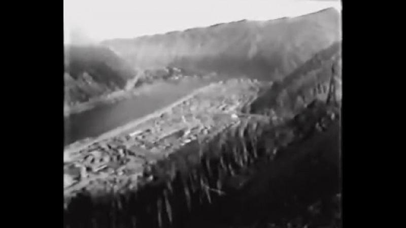 Перекрытие реки Енисей на строительстве Саяно-Шушенской ГЭС. Док. фильм о СШГЭС, 1976 год.