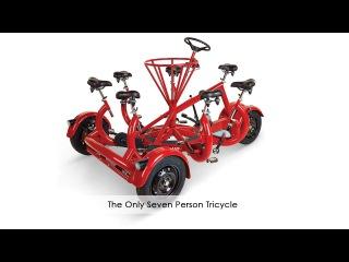 Машины-монстры: ConferenceBike - необычный велосипед, предназначенный для семи ездоков