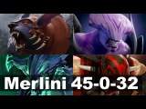 Merlini 45-0-32 and 77 KDA Vegetables Shanghai Major Qualifers  Dota 2