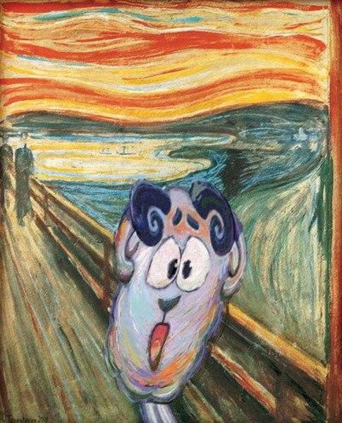 Смешарики в искусстве.