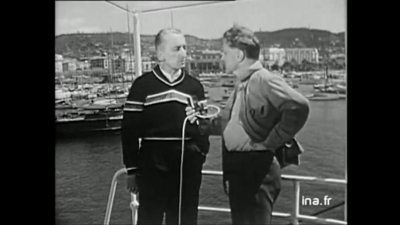 Jacques-Yves Cousteau à propos du Monde du silence (1956) Reflets de Cannes, Vidéo Ina.fr