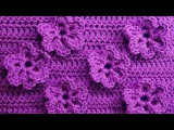 Узор с цветочками Вязание крючком Crochet pattern with flowers 83