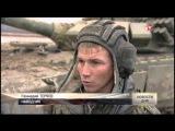 Т-72Б3 месит гусеницами грязь, готовясь к танковому биатлону