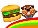Happy Hamburger | I'm Happy Song More, Kids Make a Burger Hot Dog, ESL Feelings Food Songs
