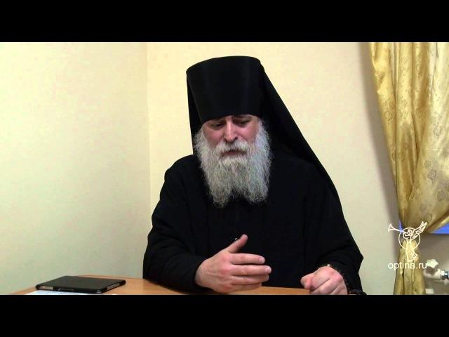 Беседа мон Иоанна Адливанкина с трудниками в Оптиной пустыни