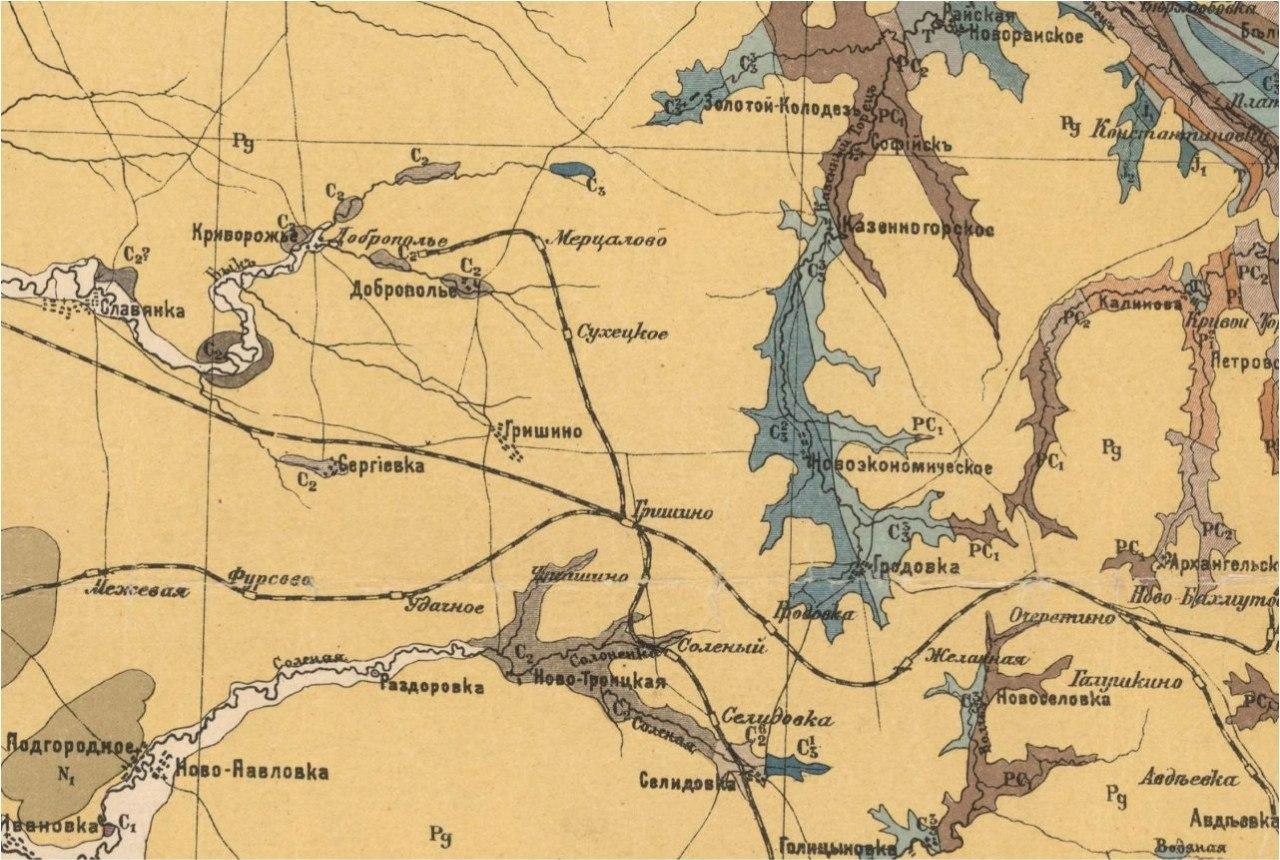 Карта 1920 года