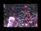 Michael Jordan Dunks on Bill Laimbeer From Near the Free Throw Line