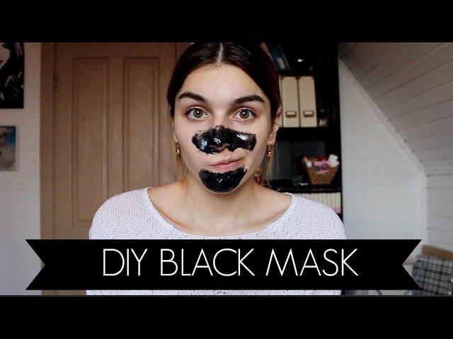 DIY BLACK MASK Черная Маска Без Клея от черных точек.