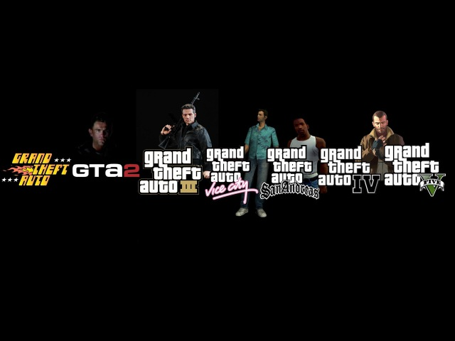 Все интро Grand Theft Auto ★ All intro video GTA 1997 2013