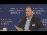 Экс-Дед Мороз Губарев емко выступил на Московском экономическом форуме
