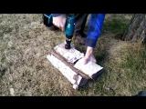 Как сделать нож из ролика от подшипника