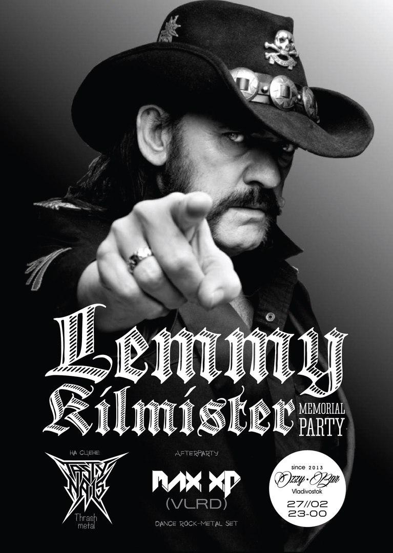 Афиша Владивосток LEMMY KILMISTER MEMORIAL PARTY