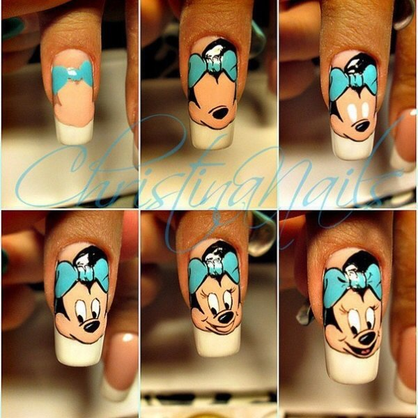 Рисунок на ногти мультяшные