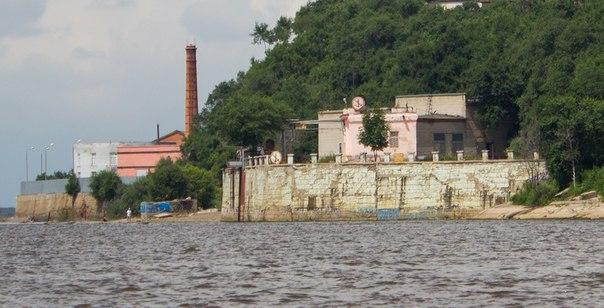 Водозабор ТЭЦ 1 на берегу Амура