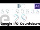 Google IO 2016 Countdown Animation | After Effects Illustrator Tutorial