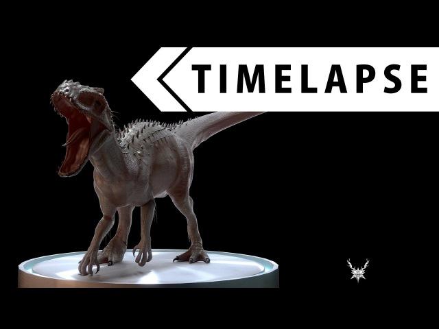 Indominus Rex (Creature Creation 6) - Modeling, Sculpting, Texturing, Rigging (BLENDER TIMELAPSE)