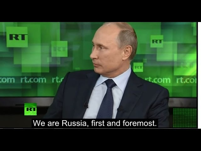 Putin on Immigration - Russia is for Russians, first and foremost