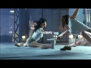 Naked Weapon (2002) Movie Clips cage fight scene - Maggie Q