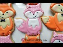 How to Decorate a Pink Fox Cookie