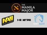 NaVi vs Liquid #1 (bo3)   The Manila Major, LB, 10.06.16