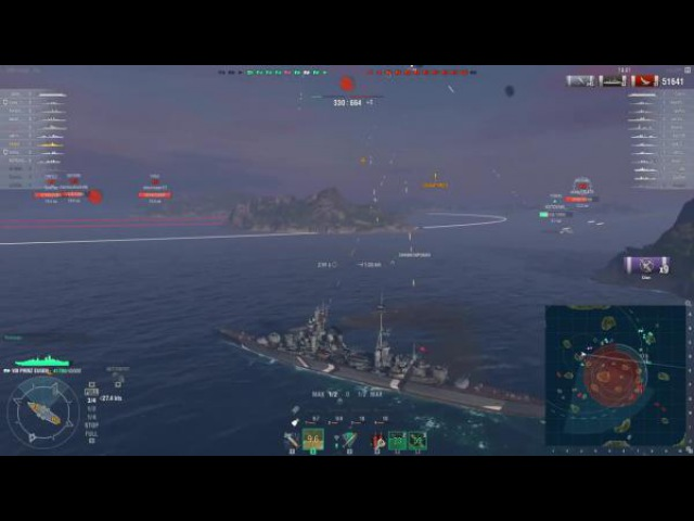 World of warships Prinz Eugen Ойген в эпицентре Z1ooo World of Warships