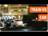Car Stuck on Tracks Gets Hits by Train | Hit and Run