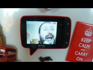 Видео записка - магнит на холодильник