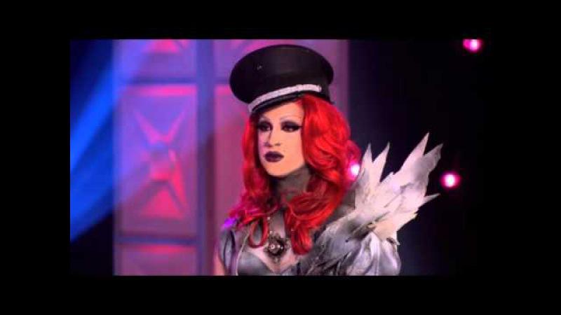 Laila McQueen vs Naysha Lopez HD [Rupaul's Drag Race S8 E1]