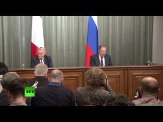 Пресс-конференция глав МИД России и Франции по итогам встречи