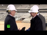 Пресс-подход президента ФИФА и Сергея Собянина по итогам осмотра «Лужников»