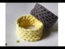 Простой браслет крючком из трикотажной пряжи Лента