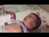 Very funny diaper change - Baby laughing