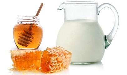 мед и молоко поможет убрать жир с живота