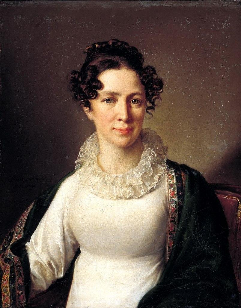 Василий Андреевич Тропинин 1776 — 1857 Портрет Анны Андреевны Тропининой, сестры художника. 1827 год.