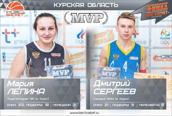 Копилка лучших игроков региональных финалов пополнилась самыми результативными баскетболистами Курской области. Поздравляем Марию и Дмитрия с заслуженным званием!!!