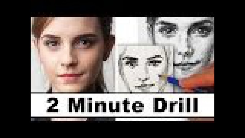 How to Draw Emma Watson in 2 Minutes