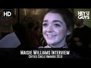 Maisie Williams Interview - Critics Circle Awards 2016
