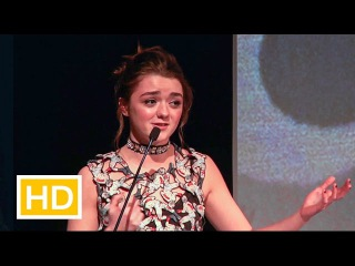 Maisie Williams speech on critics, her mum, Florence Pugh, Carol Morley. Young Performer of the Year