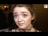 Doctor Who Maisie Williams Interview - Killing Clara & Peter Capaldi