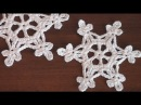How to crochet scarf VERY EASY Snowflake motif Step by step Tutorial Part 1