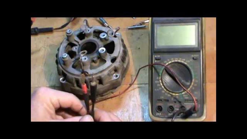 Измерение напряжения и силы тока мультиметром.