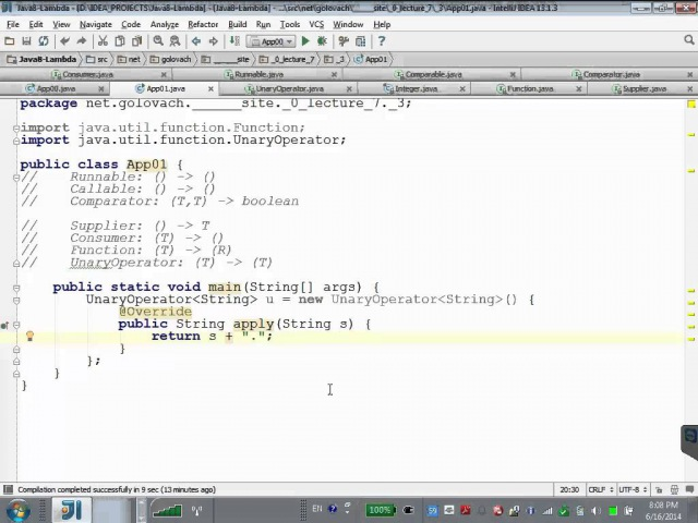 GolovachCourses Java Multithreading 16.06.2014 Lecture 07