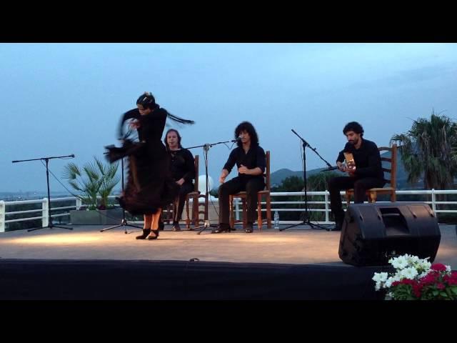 Maria Moreno Pérez Baila por Tarantos en las pruebas selectivas del Festival del Cante de las Minas
