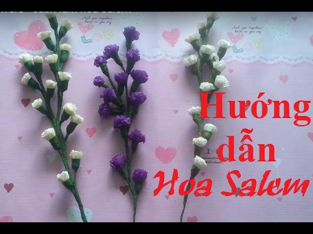 How to make Statice crepe paper Flowers - cách làm hoa salem | by Dzung Mac
