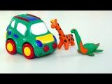 Мультик про машинки Місто машинок 18 серія: Джип, динозавр, тварини. Розвиваючі мультфільми
