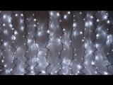 Серпантин Гирлянда электрическая LED Дождь 276 внешняя (белый), (2х1,5м.) (3)