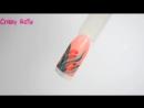Весенний дизайн ногтей - Рисуем тюльпан - маникюр гель лак - уроки дизайна Донецк