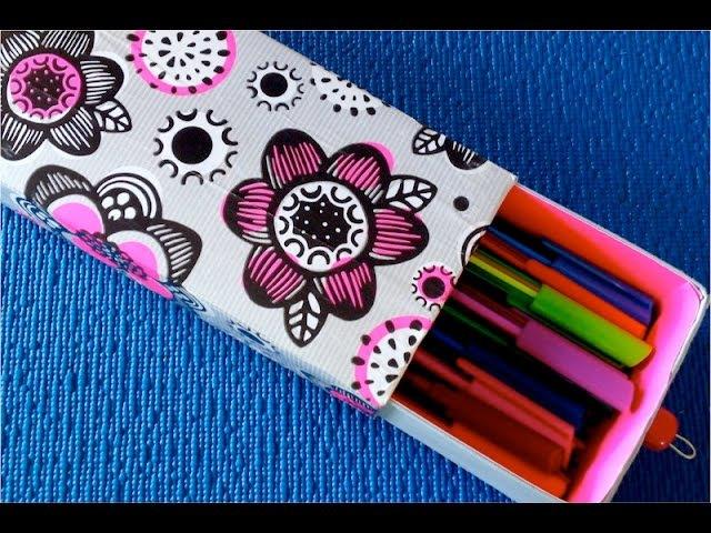 DIY. ♡ Как сделать органайзер для канцелярии - пенал для карандашей и ручек♡