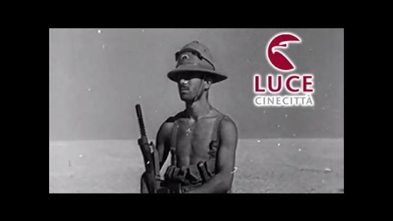 Battaglia di El Alamein: soldati italiani attaccano il nemico (1942)