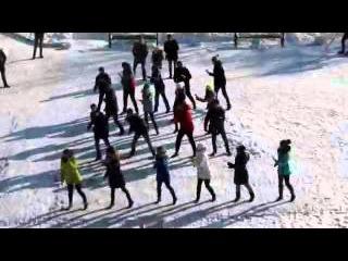 Флешмоб в Кировске на День студента  25 01 16
